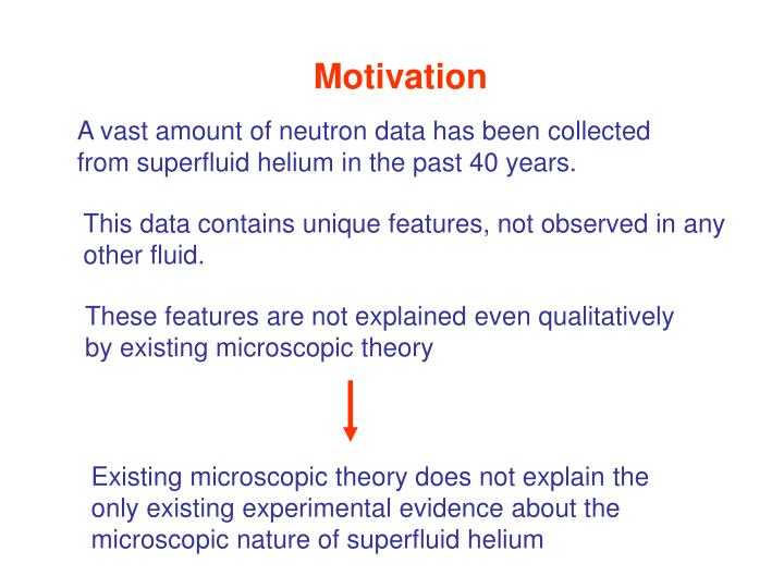 Existing microscopic theory does not explain the