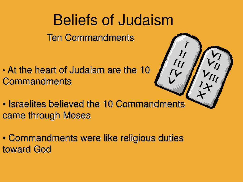 PPT - Beliefs of Judaism PowerPoint Presentation, free
