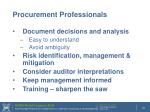 procurement professionals