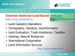 estonian national land board