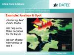 example analyze spot