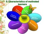 characteristics of motivated learners