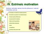 iv extrinsic motivation