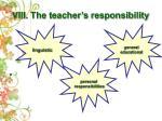 viii the teacher s responsibility