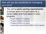 how will you be monitored on managing your time
