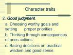 character traits1