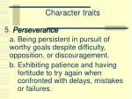 character traits4