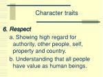 character traits5
