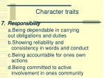 character traits6