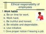ethical responsibility of employees