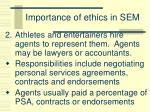 importance of ethics in sem1