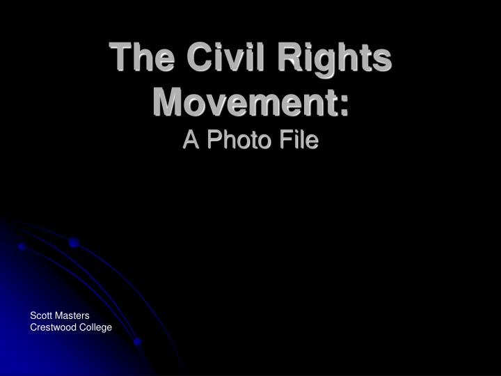 the civil rights movement a photo file n.