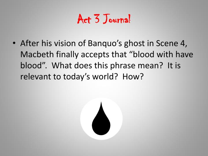 Act 3 Journal