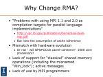 why change rma