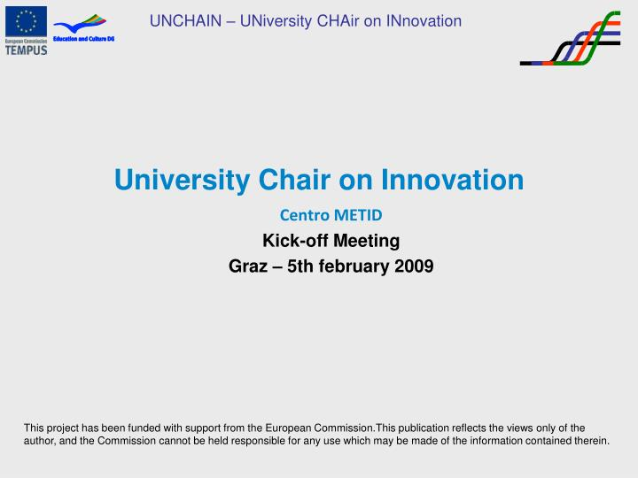 university chair on innovation n.