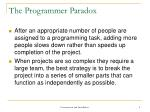 the programmer paradox