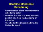 deadline monotonic scheduling