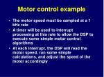 motor control example1