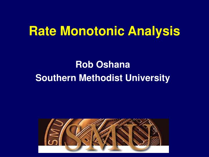 rate monotonic analysis n.