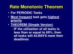 rate monotonic theorem