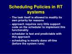 scheduling policies in rt systems1