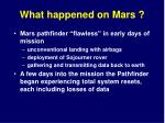 what happened on mars1
