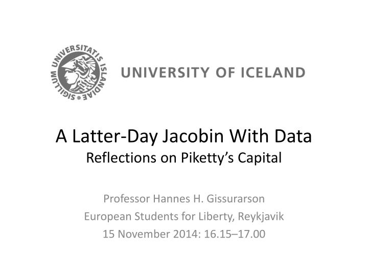 a latter day jacobin with data reflections on piketty s capital n.