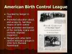 american birth control league