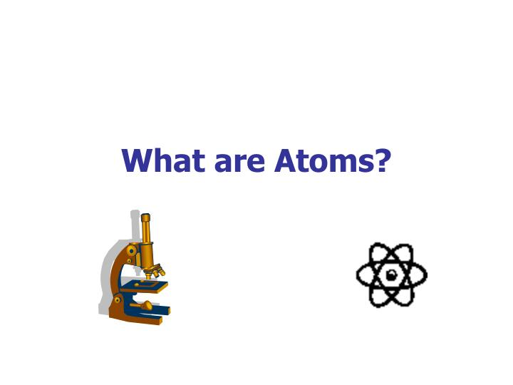 what are atoms n.