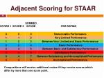 adjacent scoring for staar1