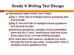 grade 4 writing test design