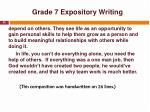 grade 7 expository writing6