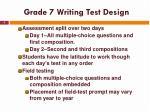 grade 7 writing test design