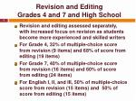 revision and editing grades 4 and 7 and high school