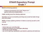 staar expository prompt grade 7
