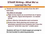 staar writing what we ve learned so far3