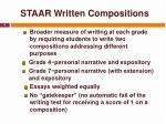 staar written compositions