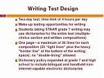 writing test design