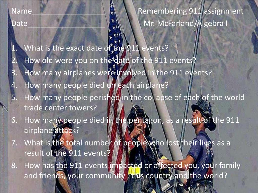 ppt name remembering 911 assignment powerpoint