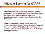 adjacent scoring for staar