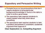 expository and persuasive writing