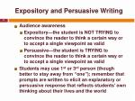 expository and persuasive writing1