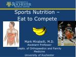 sports nutrition eat to compete