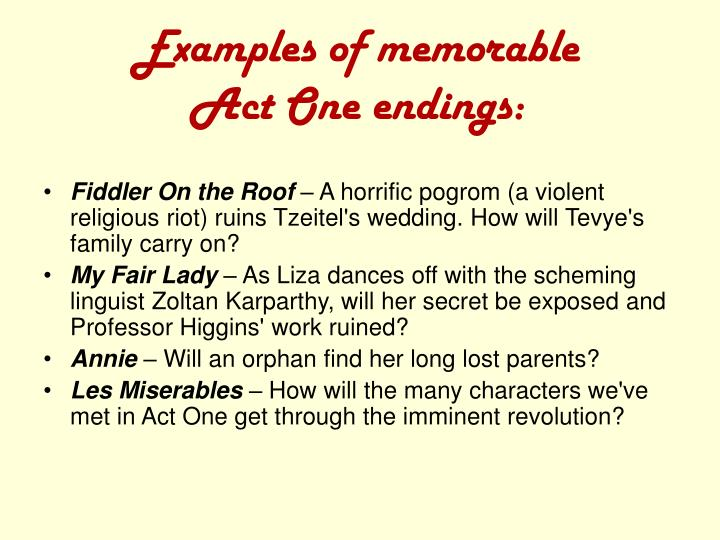 Examples of memorable
