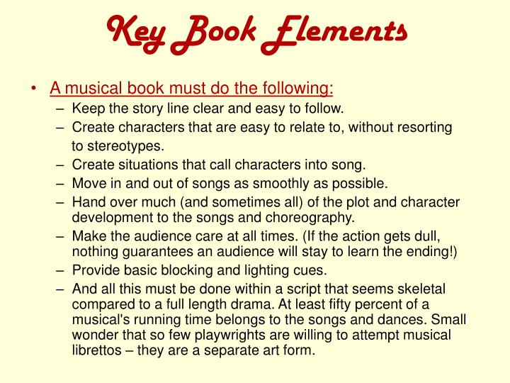 Key book elements