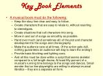 key book elements