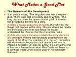 what makes a good plot