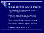 if forage species survive grazing