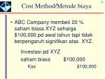 cost method metode biaya