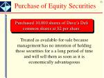 purchase of equity securities
